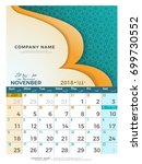 11 november hijri 1439 to 1440  ... | Shutterstock .eps vector #699730552