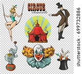 traveling chapiteau circus... | Shutterstock .eps vector #699732886