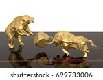 stock concept gold bear and... | Shutterstock . vector #699733006