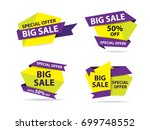colorful shopping sale banner... | Shutterstock .eps vector #699748552