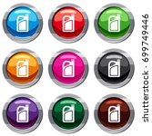 jerrycan set icon isolated on... | Shutterstock .eps vector #699749446