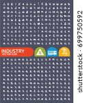industry icon set vector | Shutterstock .eps vector #699750592