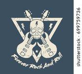 rock and roll t shirt design   Shutterstock .eps vector #699759736