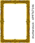 gold photo frame with corner... | Shutterstock .eps vector #699767146