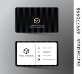modern business card design... | Shutterstock .eps vector #699770998