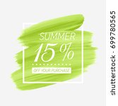summer sale 15  off sign over... | Shutterstock .eps vector #699780565