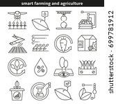 smart farming and agriculture...   Shutterstock .eps vector #699781912