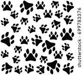paw print  | Shutterstock .eps vector #699783376
