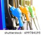 colorful petrol pump filling... | Shutterstock . vector #699784195