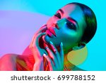 high fashion model woman in... | Shutterstock . vector #699788152
