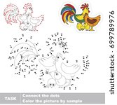 chicken family. dot to dot... | Shutterstock .eps vector #699789976