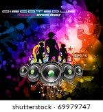 girls discoteque event flyer...