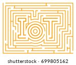 iot maze graphic isolated on... | Shutterstock .eps vector #699805162