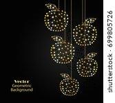 gold vector apples made of... | Shutterstock .eps vector #699805726