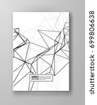 wireframe mesh poster with... | Shutterstock .eps vector #699806638