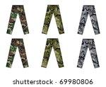 men's camouflage pants front...