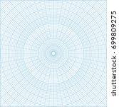 blue polar coordinate circular... | Shutterstock . vector #699809275