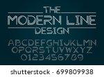 line half set style technology... | Shutterstock .eps vector #699809938