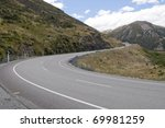 curve road over blue sky | Shutterstock . vector #69981259