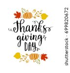 happy thanksgiving banner.... | Shutterstock .eps vector #699820672