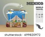 mexico landmark global travel... | Shutterstock .eps vector #699820972