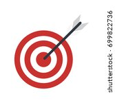 bullseye or dart board icon... | Shutterstock .eps vector #699822736