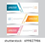 set of modern colorful banner... | Shutterstock .eps vector #699827986