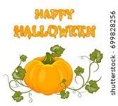 happy halloween. cartoon... | Shutterstock . vector #699828256