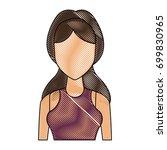 portrait young woman avatar... | Shutterstock .eps vector #699830965