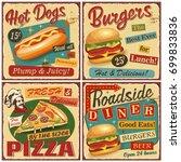 Fast Food Vintage Vector...