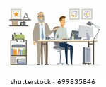 supervising staff   vector... | Shutterstock .eps vector #699835846