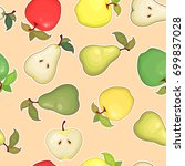 fruit seamless pattern with... | Shutterstock .eps vector #699837028