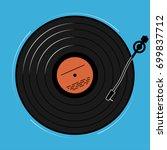 the vinyl player shown... | Shutterstock .eps vector #699837712