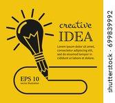 creative ideas concept. pencil... | Shutterstock .eps vector #699839992
