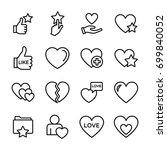 love line vector icons set | Shutterstock .eps vector #699840052