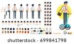 vector flat style businessman... | Shutterstock .eps vector #699841798