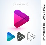 play logo icon. material design ... | Shutterstock .eps vector #699845422