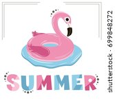 vector illustration with pink... | Shutterstock .eps vector #699848272