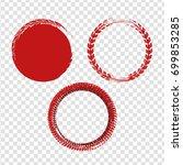grunge off road stamp shaped... | Shutterstock .eps vector #699853285