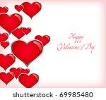 valentine day background   Shutterstock .eps vector #69985480