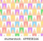 abstract seamless vector... | Shutterstock .eps vector #699858166