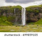 seljaland waterfall  aka... | Shutterstock . vector #699859105