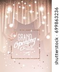 grand opening background with... | Shutterstock .eps vector #699863236