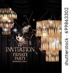 vip luxury event invitation... | Shutterstock .eps vector #699863302