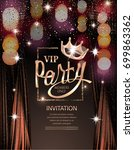 vip party invitation card with... | Shutterstock .eps vector #699863362