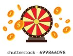 wheel of fortune with gold... | Shutterstock .eps vector #699866098