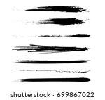 hand drawing brush stroke. set... | Shutterstock .eps vector #699867022
