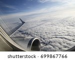 view from an airplane window... | Shutterstock . vector #699867766