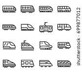 bullet train line vector icons...   Shutterstock .eps vector #699877012