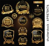 luxury badges and labels with... | Shutterstock .eps vector #699878476